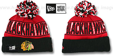 Blackhawks 'REP-UR-TEAM' Knit Beanie Hat by New Era