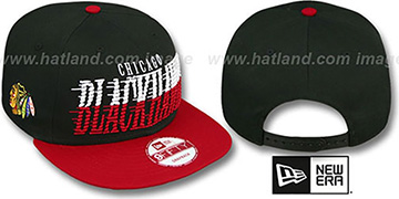Blackhawks 'SAILTIP SNAPBACK' Black-Red Hat by New Era