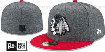 Blackhawks 'SHADER MELT-2' Grey-Red Fitted Hat by New Era