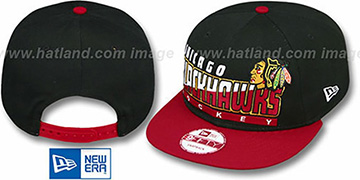 Blackhawks 'SLICE-N-DICE SNAPBACK' Black-Red Hat by New Era