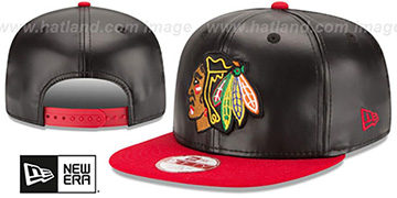 Blackhawks 'SMOOTHLY STATED SNAPBACK' Black-Red Hat by New Era