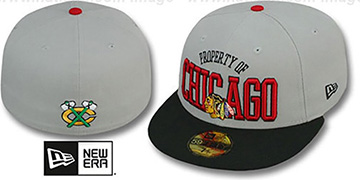 Blackhawks 'TEAM-PRIDE' Grey-Black Fitted Hat by New Era