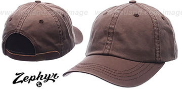 Blank 'DADDY STRAPBACK' Brown Hat Zephyr