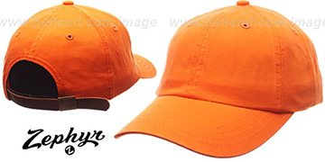 Blank 'DADDY STRAPBACK' Orange Hat Zephyr