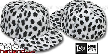 Blank DALMATION PIMPIN-FUR White Fitted Hat by New Era