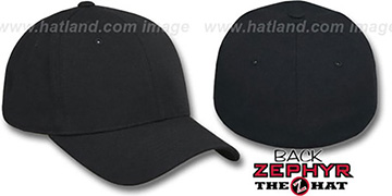Blank 'DH BLACK' Fitted Hat by Zephyr