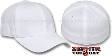 Blank 'DH WHITE' Fitted Hat by Zephyr