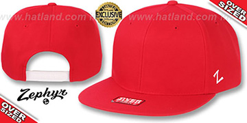 Blank 'OVER-SIZED SNAPBACK' Red Hat by Zephyr