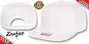 Blank 'OVER-SIZED SNAPBACK' White Hat by Zephyr