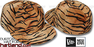 Blank TIGER PIMPIN-FUR Fitted Hat by New Era