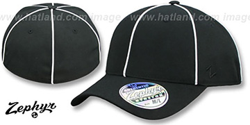 Blank Z-FIT  Black-White Piping Hat by Zephyr