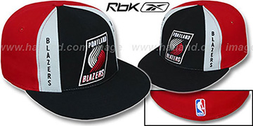 Blazers 'AJD PINWHEEL' Black-Red Fitted Hat by Reebok