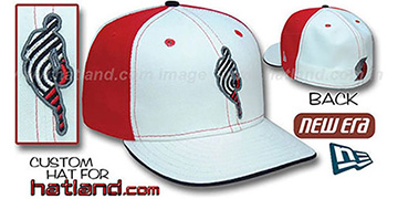 Blazers INSIDER PINWHEEL White-Red Fitted Hat by New Era