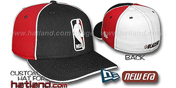 Blazers LOGOMAN-2 Black-Red-White Fitted Hat by New Era