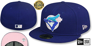 Blue Jays 1993 COOPERSTOWN PINK LOGO BOTTOM Fitted Hat by New Era