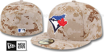 Blue Jays 2013 'STARS N STRIPES' Desert Camo Hat by New Era