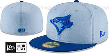 Blue Jays '2018 FATHERS DAY' Sky-Royal Fitted Hat by New Era