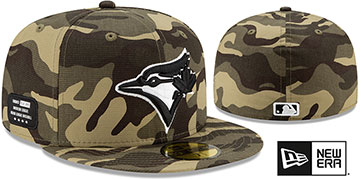 Blue Jays 2021 ARMED FORCES STARS N STRIPES Hat by New Era