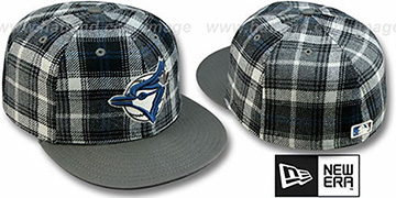 Blue Jays 2T ALT PLAIDZ Grey Fitted Hat by New Era