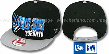 Blue Jays '2T BORDERLINE SNAPBACK' Black-Grey Hat by New Era