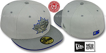 Blue Jays '2T COOP GREY-POP' Fitted Hat by New Era