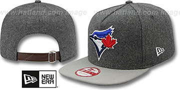 Blue Jays '2T MELTON A-FRAME STRAPBACK' Hat by New Era