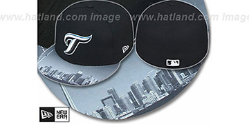 Blue Jays ALT 'CITY-SCAPE VIZA' Black Fitted Hat by New Era