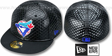 Blue Jays ALT QUILTE Black Fitted Hat by New Era