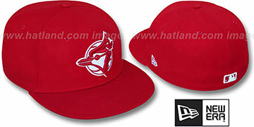 Blue Jays ALT 'TEAM-BASIC' Red-Red Fitted Hat by New Era