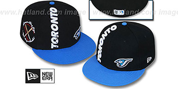 Blue Jays 'BEELINE' Black-Blue Fitted Hat by New Era