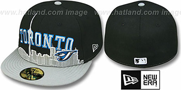 Blue Jays 'CITY-LINE' Black-Grey Fitted Hat by New Era
