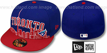 Blue Jays COOP CITY-LINE Royal-Red Fitted Hat by New Era