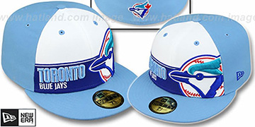 Blue Jays COOP 'FOUL BALL' White-Sky Fitted Hat by New Era