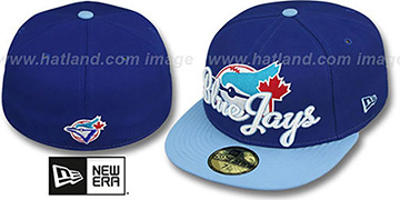 Blue Jays COOP 'SCRIPT-PUNCH' Royal-Sky Fitted Hat by New Era