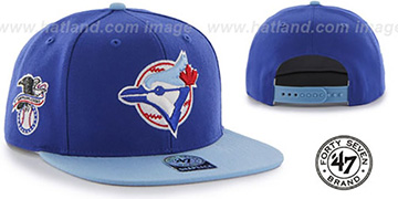 Blue Jays 'COOP SURE-SHOT SNAPBACK' Royal-Sky Hat by Twins 47 Brand