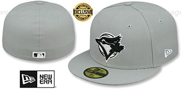 Blue Jays 'COOP TEAM-BASIC' Grey-Black-White Fitted Hat by New Era