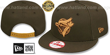 Blue Jays COOP TEAM-BASIC SNAPBACK Brown-Wheat Hat by New Era