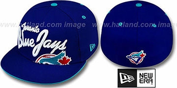 Blue Jays 'COOPERSTOWN BIG-SCRIPT' Royal Fitted Hat by New Era