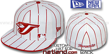 Blue Jays FABULOUS White-Red Fitted Hat by New Era