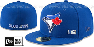 Blue Jays 'FLAWLESS PINNED-UP' Royal Fitted Hat by New Era