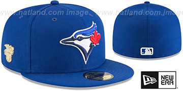 Blue Jays GILDED TURN Royal Fitted Hat by New Era