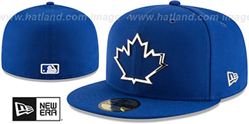 Blue Jays 'GOLD FRAMED METAL-BADGE' Royal Fitted Hat by New Era