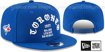 Blue Jays 'GOTHIC-ARCH SNAPBACK' Royal Hat by New Era