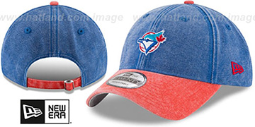 Blue Jays GW COOP RUGGED CANVAS STRAPBACK Royal-Red Hat by New Era