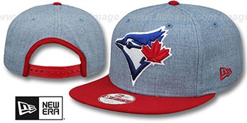 Blue Jays 'LOGO GRAND SNAPBACK' Sky-Red Hat by New Era