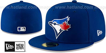 Blue Jays METAL-N-THREAD Royal Fitted Hat by New Era