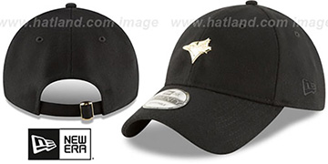 Blue Jays MINI GOLD METAL-BADGE STRAPBACK Black Hat by New Era
