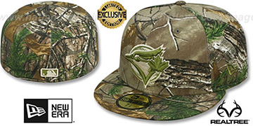 Blue Jays 'MLB TEAM-BASIC' Realtree Camo Fitted Hat by New Era