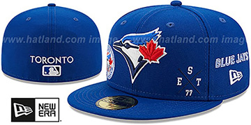 Blue Jays MULTI-AROUND Royal Fitted Hat by New Era