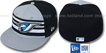 Blue Jays 'PREMIUM' Grey-Black Fitted Hat by New Era